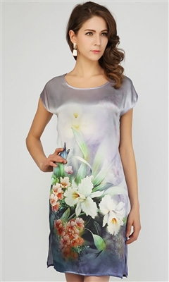 Silk Tunic Dress Top