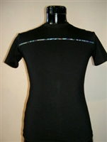 TEE WITH PAUA PANEL ACROSS CHEST