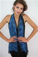 PAUA PRINTED SCARF - RECTANGLE